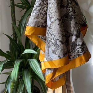 Yellow/Snakeskin Neck Scarf, H&M